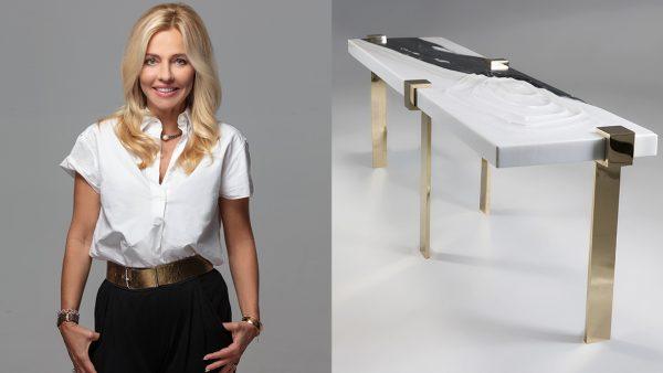 Stéphanie Coutas - Architecte d'intérieur - Banc en marbre blanc et laiton poli - Signatures Singulières - Magazine digital des talents Français