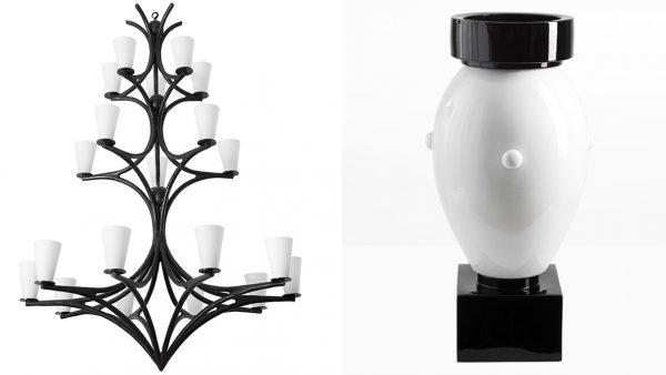 Signatures Singulières - Galerie Edition Limitée - Art décoratif - Lustre en fer forgé - Vincent Collin - Vase noir et blanc - Olivier Gagnère - Designer