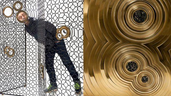 Erwan Boulloud - designer et sculpteur - Enfilade en Laiton, incrusté de Jade Pyrite - Signatures Singulières Magazine - magazine digital des talents français