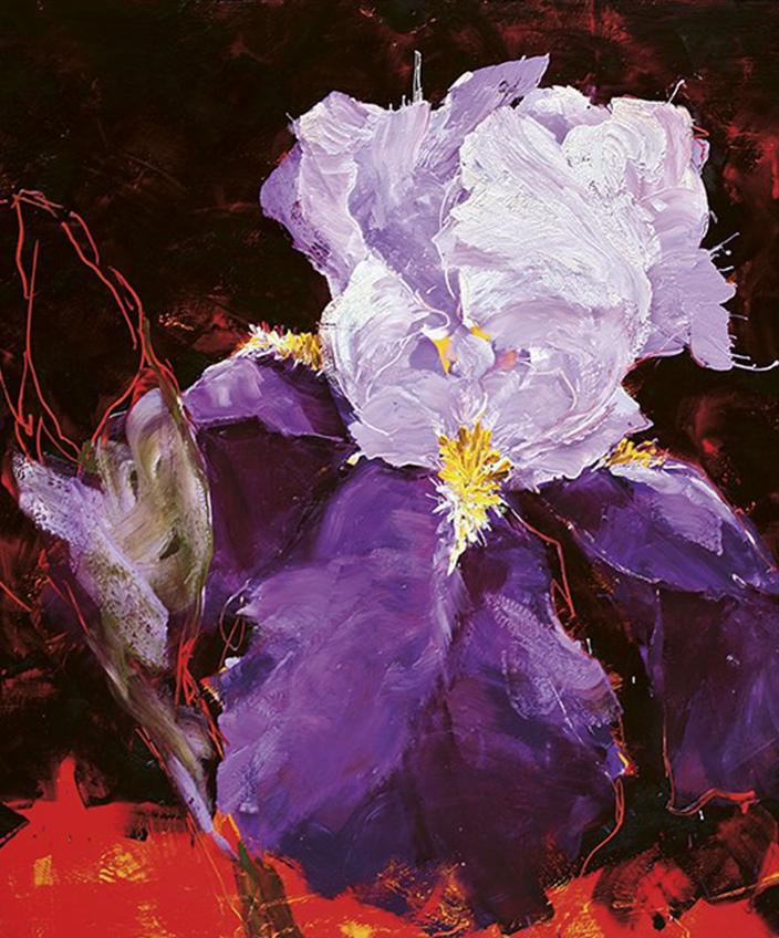 Charles Belle - Artiste peintre - Editions Souces - Livre d'art - Fleur iris - Signatures Singulières Magazine.