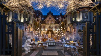 Signatures Singulières Magazine. Hotel Barrière Normandy à Deauville, Le jardin les neiges.