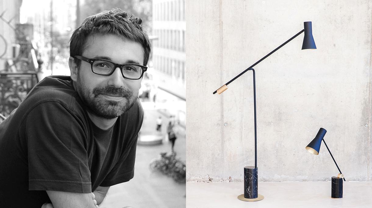 Signatures Singulières Magazine. Pierre Dubourg, designer de la lampe Lutz; éditée par Versant edition.