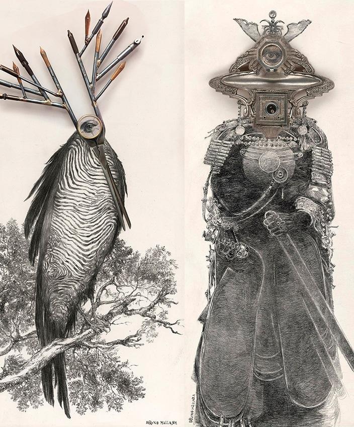 Bruno Mallart - illustrateur - dessin au crayon - Cyclope - Galerie Bayart - Signatures Singulières - Magazine digital des talents Français
