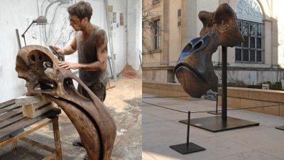 Signatures Singulieres Magazine. Quentin Garel sculpteur animalier.