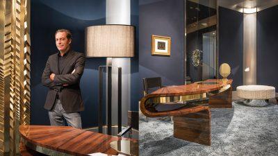 Signatures Singulières - Thierry Lemaire - Architecte d'intérieur - Galerie Thierry Lemaire - Ebène de Macassar - Lampe en céramique - Pad 2019