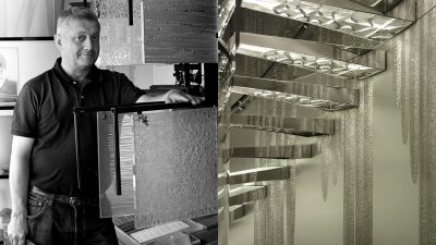 Signatures Singulières. Ateliers Bernard Pictet - Maître verrier - escalier de yacht en verre - Panneau murale en verre - Entreprise EPV