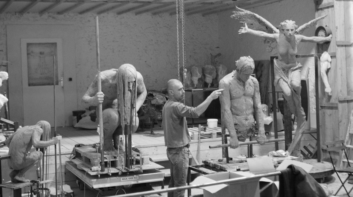 Signatures Singulières - Christophe Charbonnel - Galerie Bayart - Sculpteur - Sculpture en bronze - Atelier d'artiste