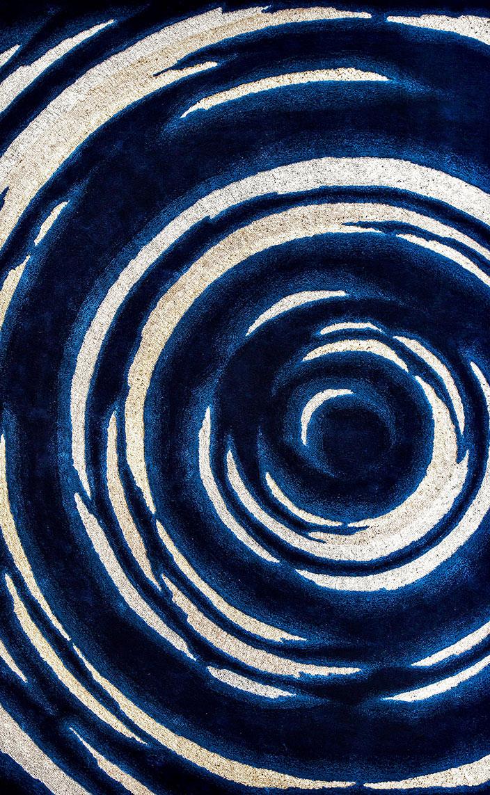 Signatures Singulières - Pinton - Tapis sur mesure - Manufacture Aubusson - Tapis bleu et blanc - Tapis et moquette - Ulrika Liljedahl