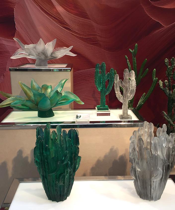 Signatures Singulière - Daum - Collection Cactus - Emilio Robba - vase cactus vert - Vase cactus transparent - cristal