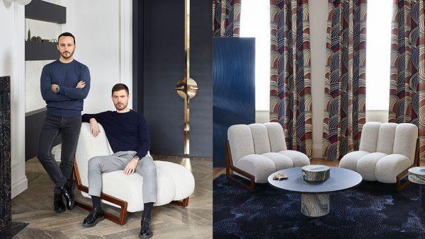 signatures singulières - Humbert & Poyet - Architecte d'intérieur - Nouvelle collection de mobilier - Fauteuil écru - Table en marbre