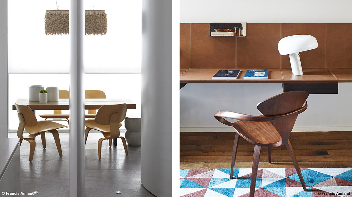 Bismut&Bismut - Architecte d'intérieur - Bureau en cuir - mobilier scandinave - interior designer -Signatures Singulières
