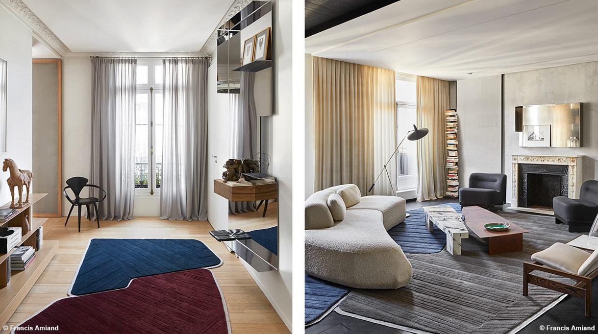Bismut&Bismut - Architecte d'intérieur - interior designer - Salon contemporain - Canapé beige arrondi - Signatures Singulières