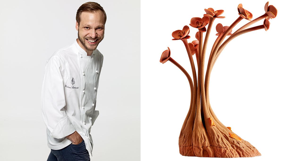 Restaurant le George V - Buche de noel - Michael Bartocetti - Chef Patissier - Signatures Singulières