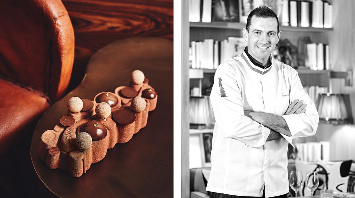 Buche de Noël - Restaurant Le Brach - Yann Brys -Chef patissier - Signatures Singulières