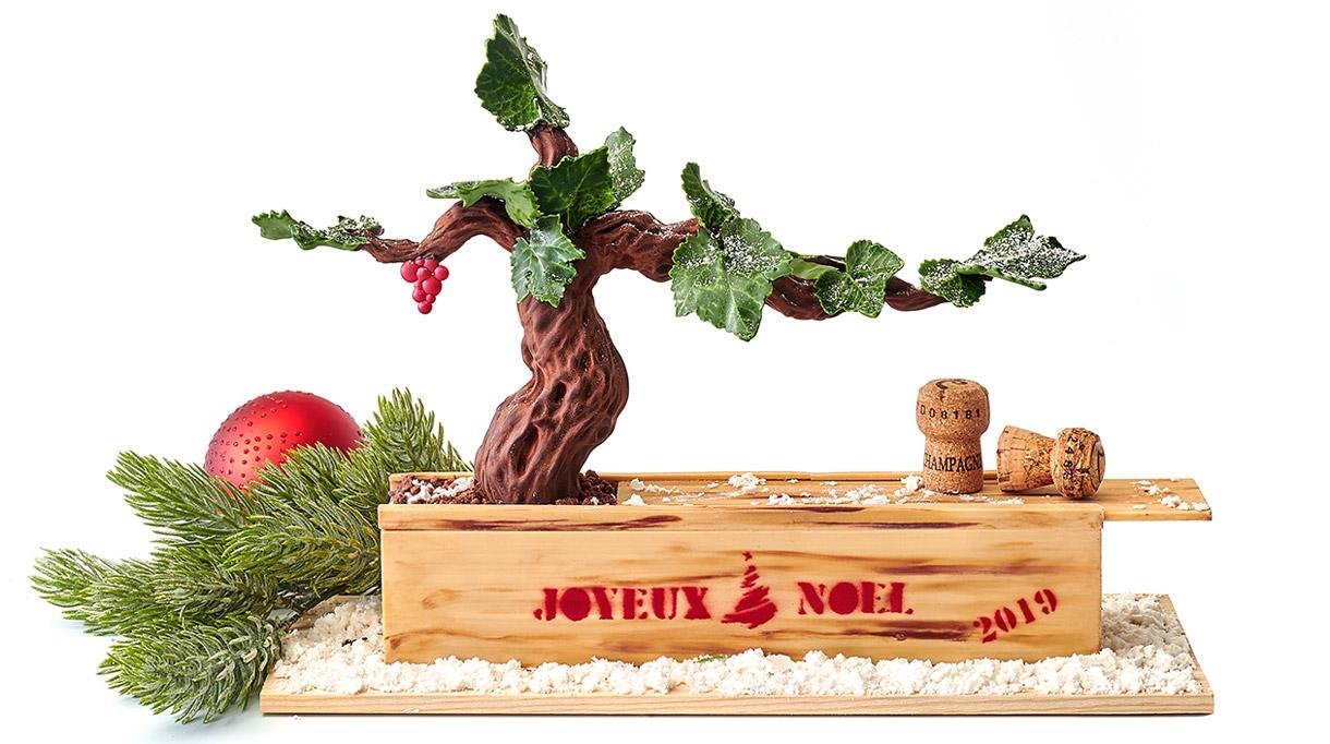 Buche de Noël 2019 - Le Peninsula - Paris - Dominique Costa -Chef patissier - Signatures Singulières