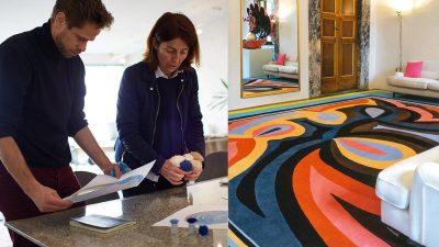Signatures Singulières - manufacture des tapis de Bourgogne - Odile Dhavernas -Pucci - savoir-faire français - Tapis tuftés - Tapis coloré