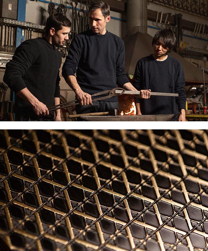 Signatures Singulières - Steavens Richard - Ferronnier d'art - Rémi Martin - Cognac XO - Centaure sculpté en laiton - atelier d'artisan