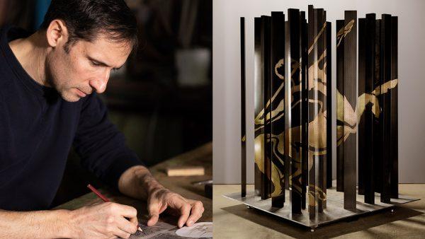 Signatures Singulières - Steavens Richard - Ferronnier d'art - Rémi Martin - Cognac XO - Centaure sculpté en laiton