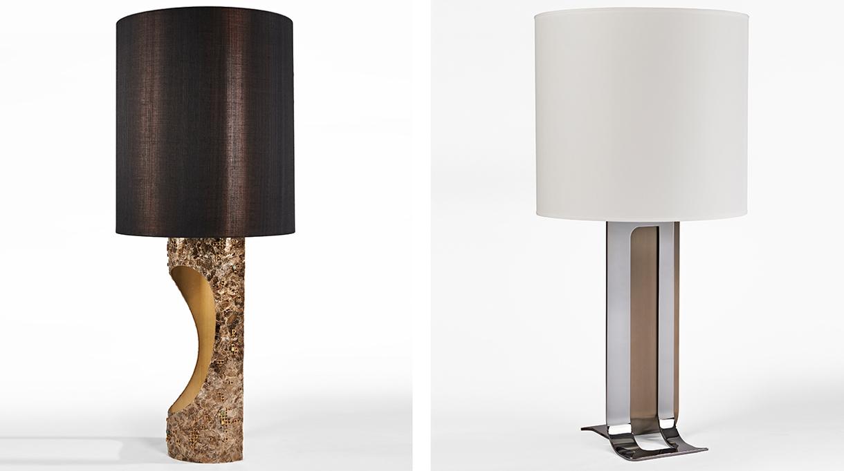 Signatures Singulières - Thierry Lemaire - Architecte d'intérieur - Lampe en bronze