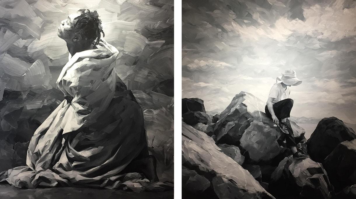Yoann Merienne - artiste peintre - Galerie Bayart - Huile sur toile - Signatures Singulière