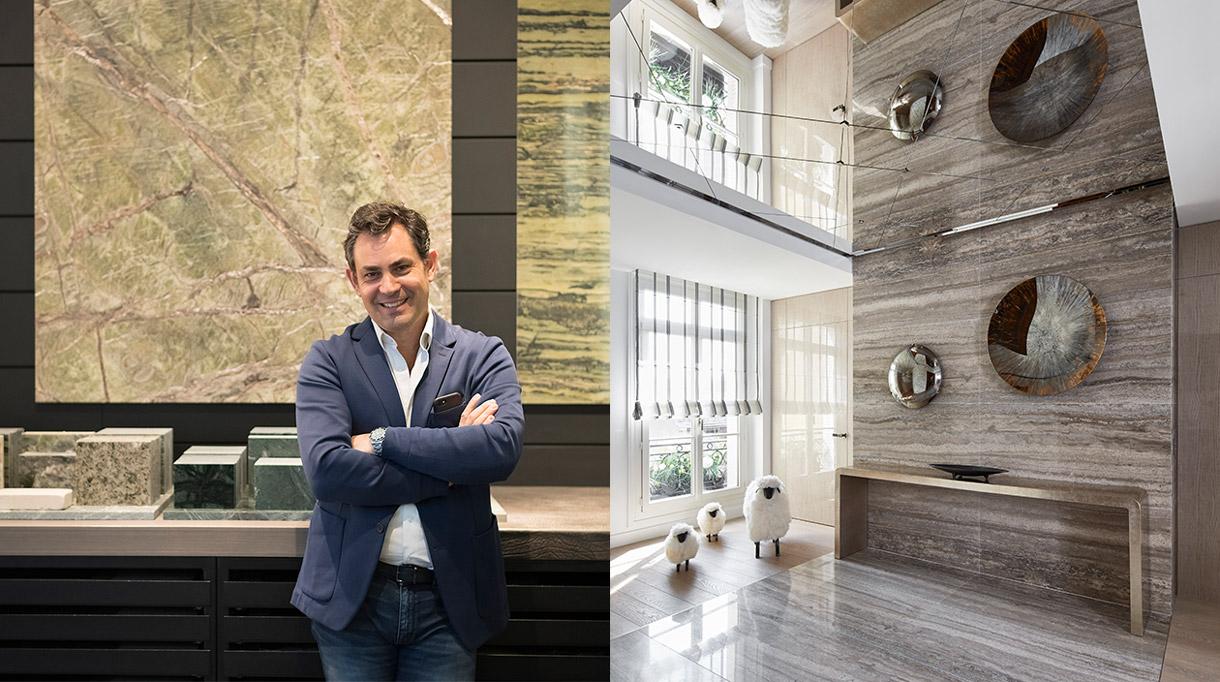 Marbrerie de la Seine - Jean Pascal Morvidoni - Sol en marbre - Stéphanie Coutas - Architecte d'intérieur - Signatures Singulières
