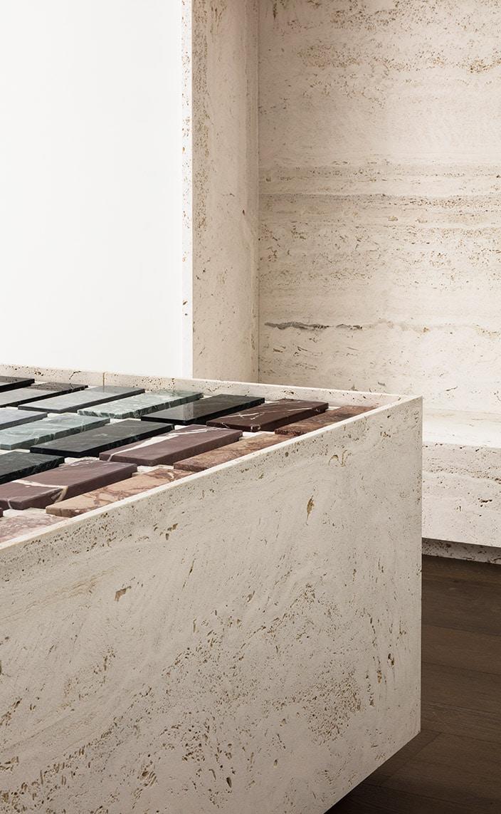 Marbrerie de la Seine - showroom Bastille - Sol en marbre - Signatures Singulières Magazine