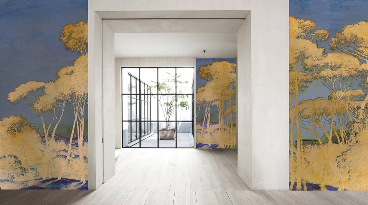 Labo-leonard - papier peint contemporain - Panoramique - Composition murale - Singulières - Magazine digital des talents Français