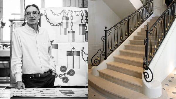 Maison Pouenat - jacques rayet - president maison pouenat - ferronnerie d'art - editeur d'art - escalier en pierre - rampe d'escalier en fer forgé - balmain à Paris - signatures Singulières Magazine - magazine digital des talents français