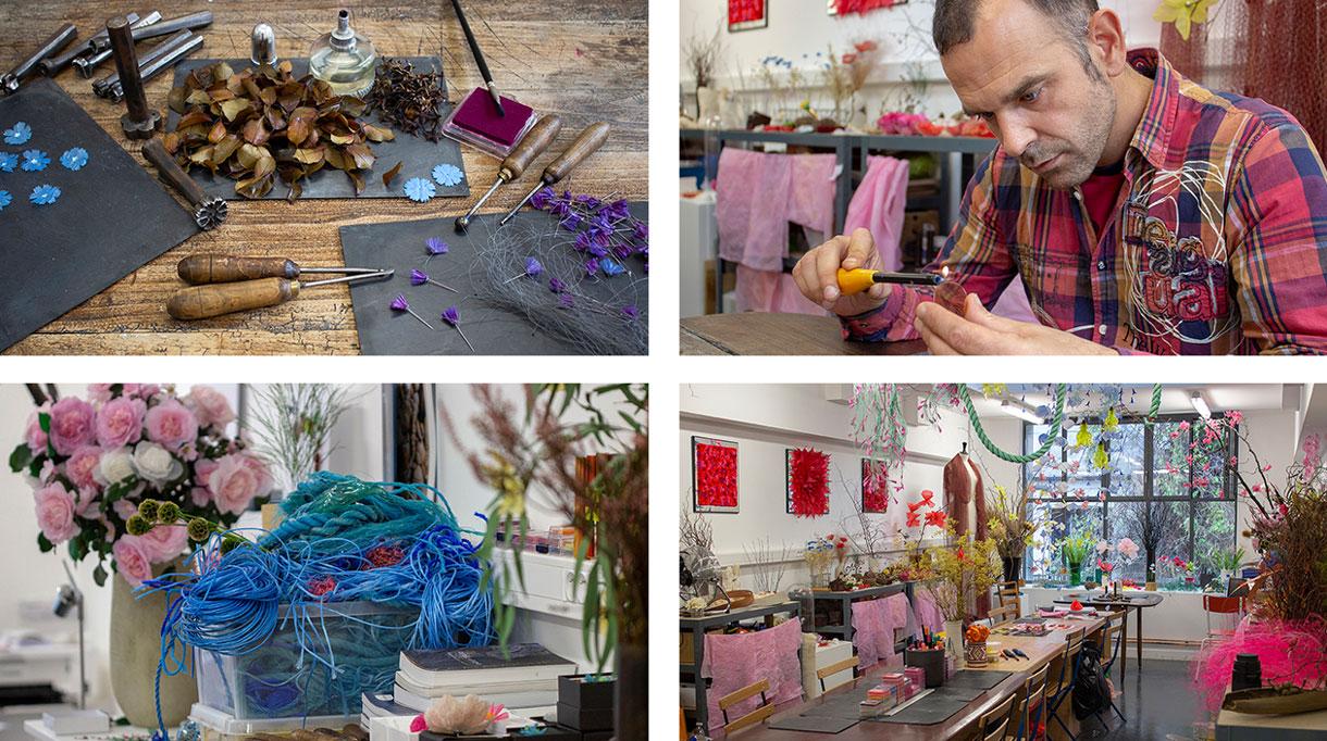 william amor - créateur upcycleur de fleurs artificielles - atelier créations messagères - Artiste plasticien - savoir-faire français - Singulières - Magazine digital des talents Français
