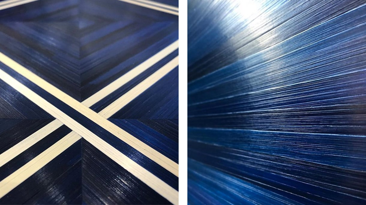 atelier paelis - manon bouvier - marqueterie de paille bleue - meilleur ouvrier de france - paille de seigle - marqueteuse de paille - Signatures Singulières Magazine - magazine digital des talents français