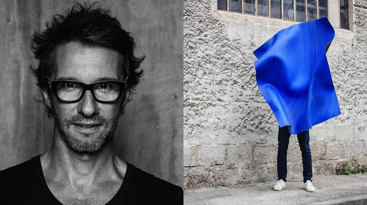 Martin Berger - Artiste plasticien et designer - peinture acrylique monochrome bleue - bleu aquatique - signatures Singulières Magazine - magazine digital des talents français
