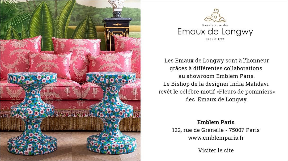 Paris design week 2020 - emaux de longwy - table bishop - india mahdavi - manufacture emblem paris - canapé taillardat - Signatures Singulières Magazine - le magazine digital des talents français