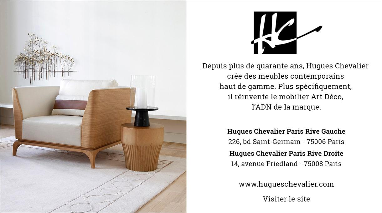 Paris design week 2020 - Hugues Chevalier - Mobilier art déco - fauteuil bois et tissu - savoir faire Français - Signatures Singulières Magazine - le magazine digital des talents français