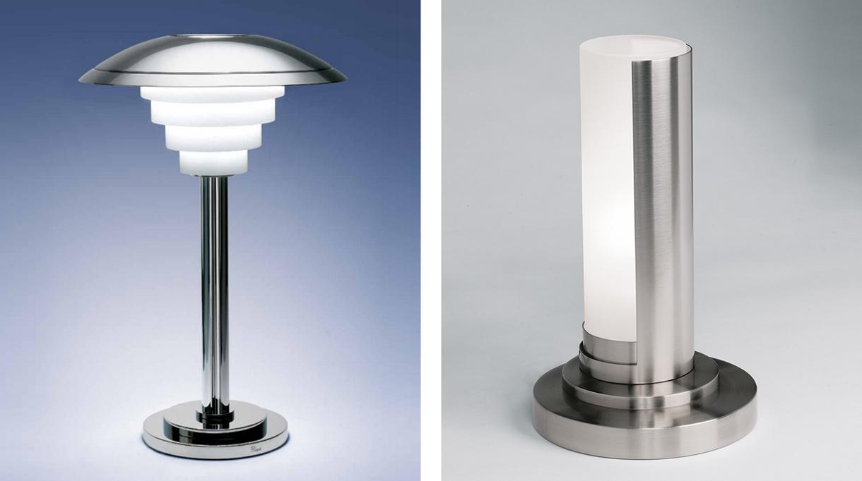 Luminaire jean perzel - lampe à poser art déco finition chrome - lampe à poser art déco finition nickel - signatures Singulières Magazine - magazine digital des talents français
