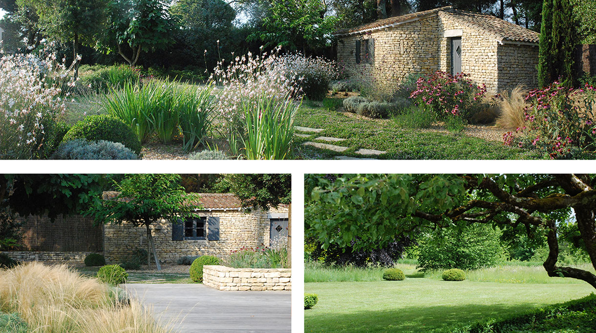 Architecte paysagiste - Christian Préaud - Atelier Jardins - Jardin paysagé - Maison en pierre - Signatures Singulières