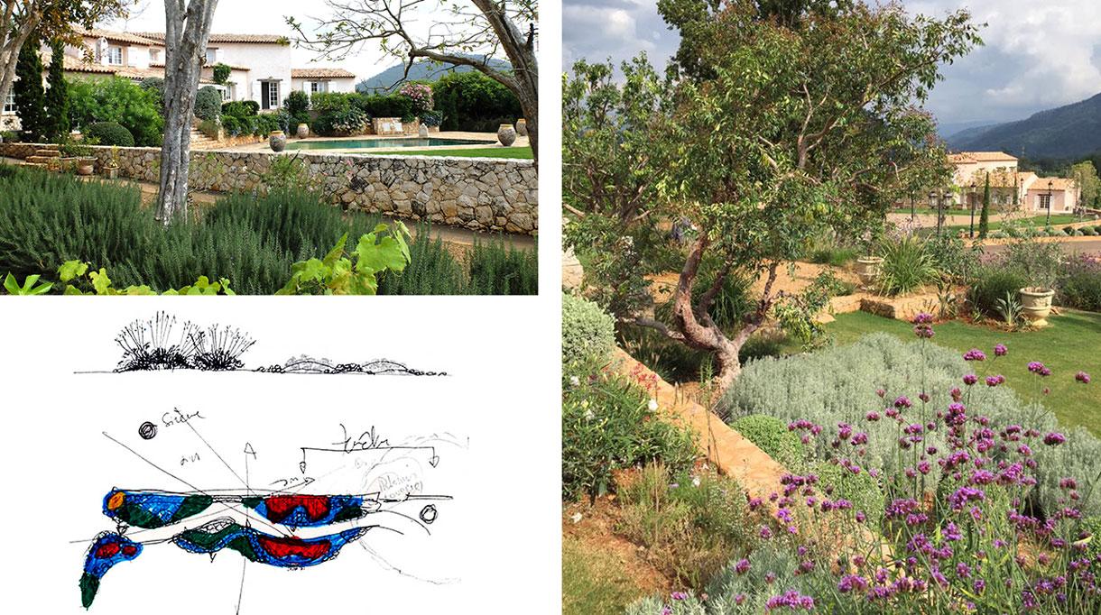 Architecte paysagiste - Christian Préaud - Atelier Jardins - Jardin paysagé - Maison en Provence - Mur en pierre sèche - Piscine - Signatures Singulières Magazine