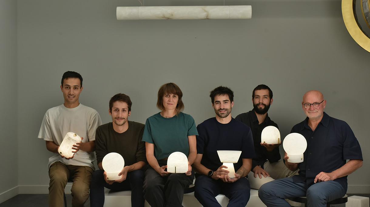 atelier alain ellouz - lampe nomade en albatre - design - signatures singulieres