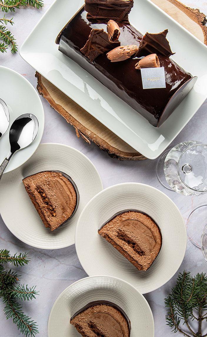 maison philippe conticini - buche de noel au chocolat 2020 - signatures singulieres