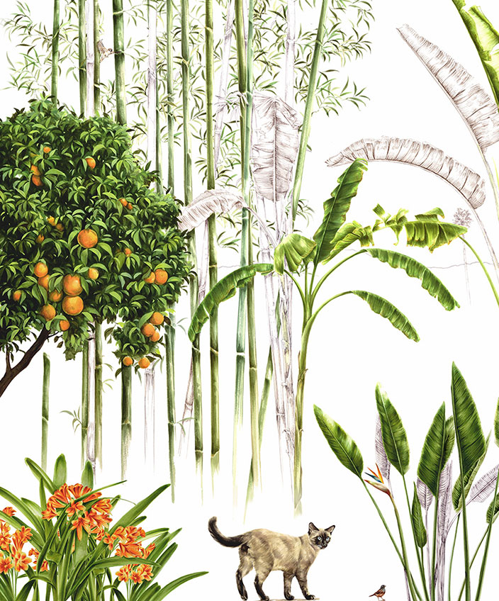 cedric peltier - decor animalier - fresque murale - signatures singulieres magazine