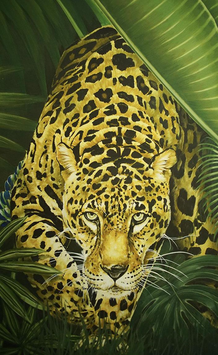 cedric peltier - manufacture emblem paris - fresque murale tropicale - signatures singulieres magazine