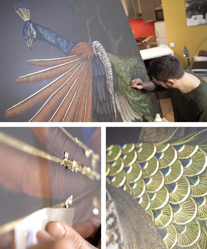 cedric peltier - decor animalier - paon - peacock - signatures singulieres magazine