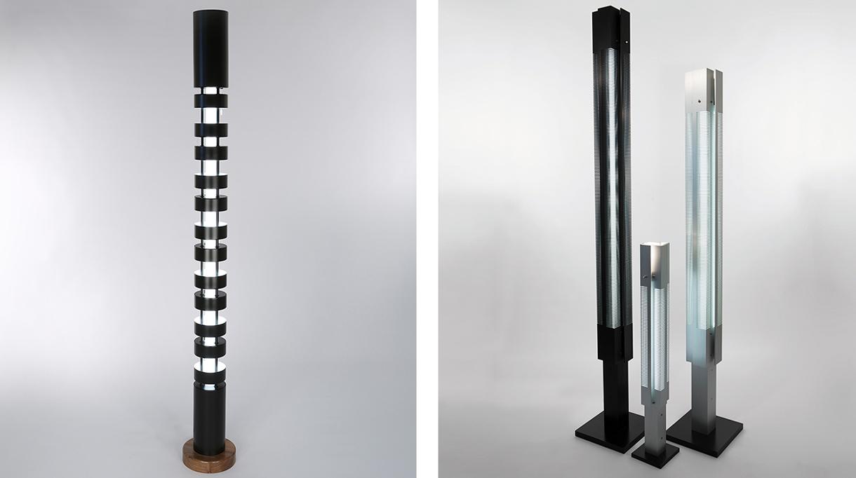 editions serge mouille -luminaire contemporain - colonne lumineuse - signatures singulieres magazine