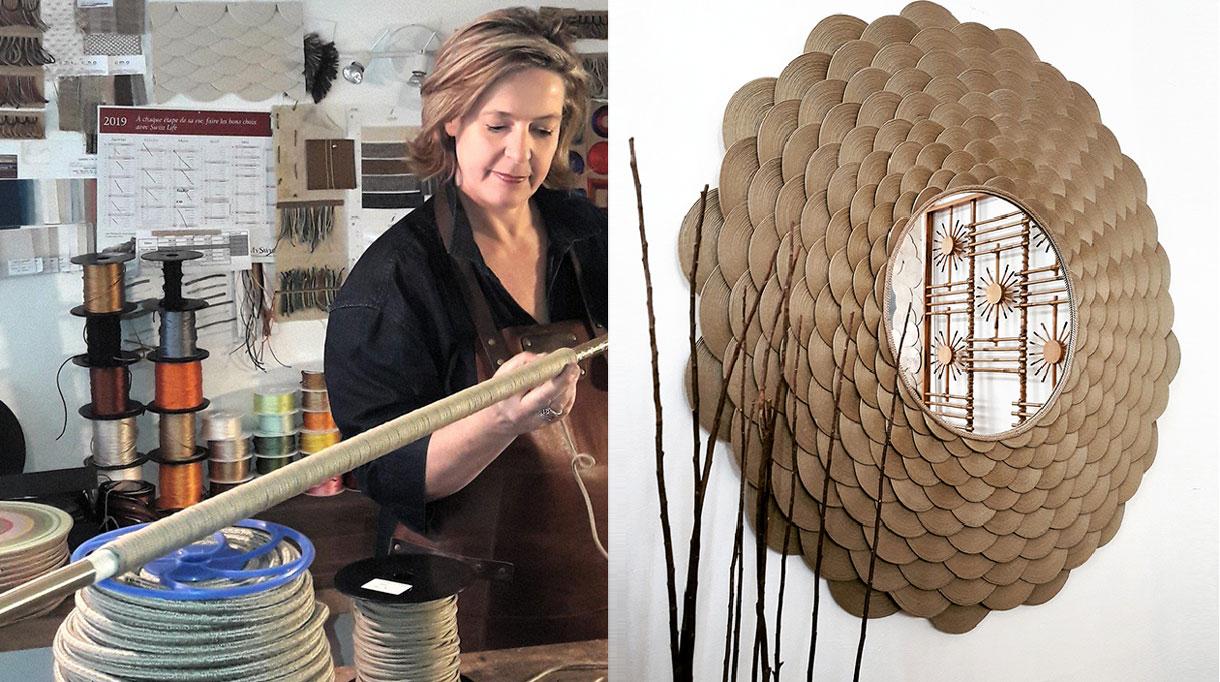 veronique de soultrait - art decoratif - miroir en corde - technique de tressage - Singulières Magazine - le magazine digital des talents français