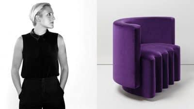 victoria wilmotte -silvera - tissu pierre frey - canape velours violet - Signatures Singulières Magazine