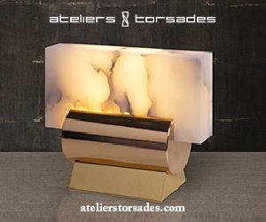 ateliers torsades - roger pradier - lampe à poser en bronze et albatre - poli miroir - Signatures Singulières Magazine