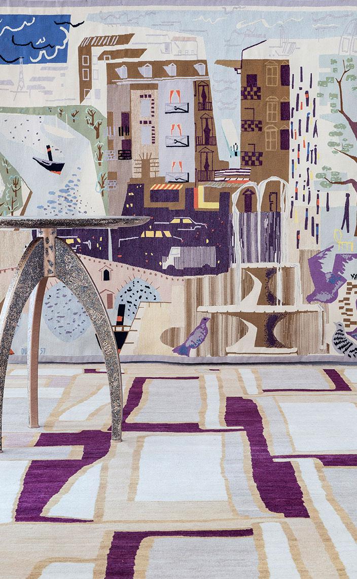 galerie chevalier - tapis parsua - tapisserie contemporaine - jean dupret - Guéridon Alasdair Cooke - Galerie Mougin - signatures singulieres - philippe montels - galerie patrick fourtin - le magazine digital des talents francais