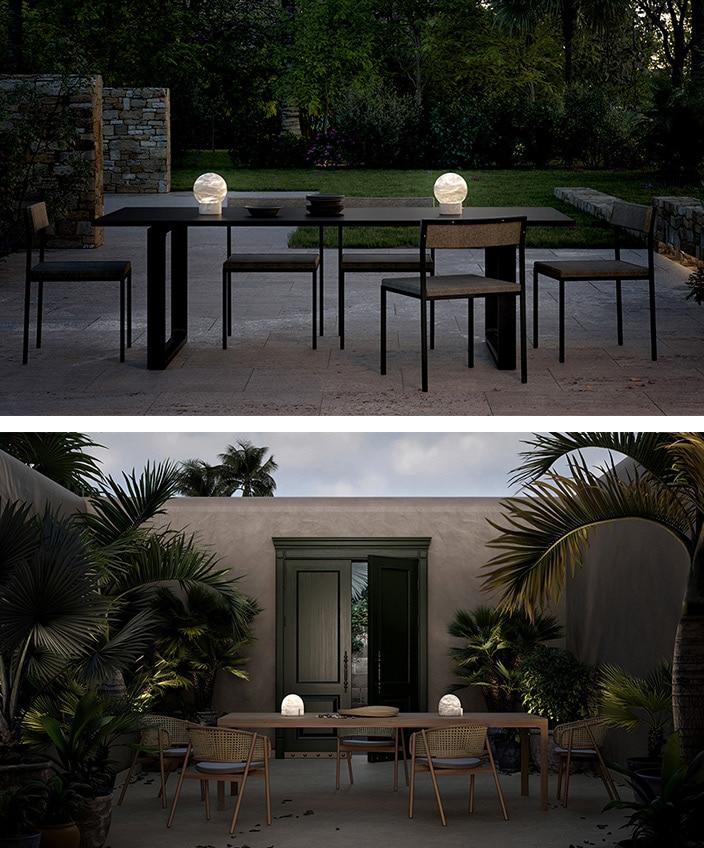 atelier alain ellouz - luminaire outdoor - lampe en albatre - savoir faire francais - signatures singulieres magazine