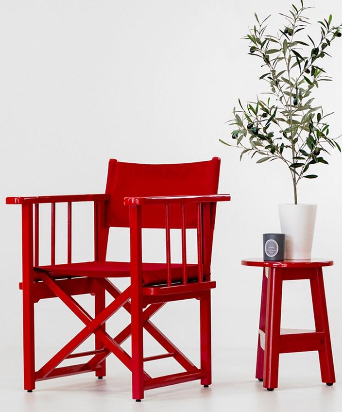 azur confort - fauteuil metteur en scene - fauteuil rouge outdoor - mobilier outdoor - savoir faire francais - signatures singulieres magazine