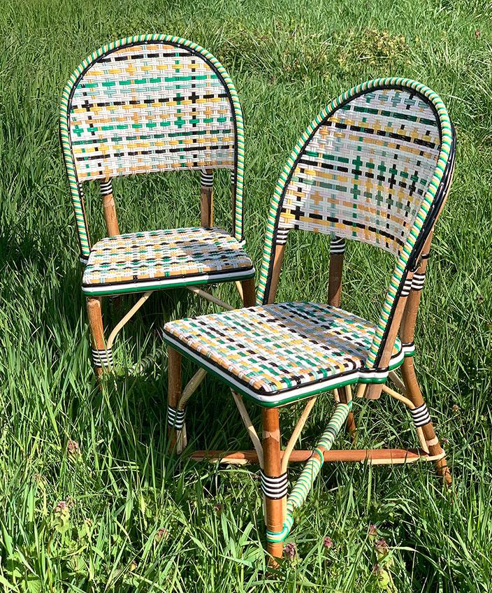 chaise en rotin - mobilier outdoor en rotin - philippe model - savoir faire francais - signatures singulieres