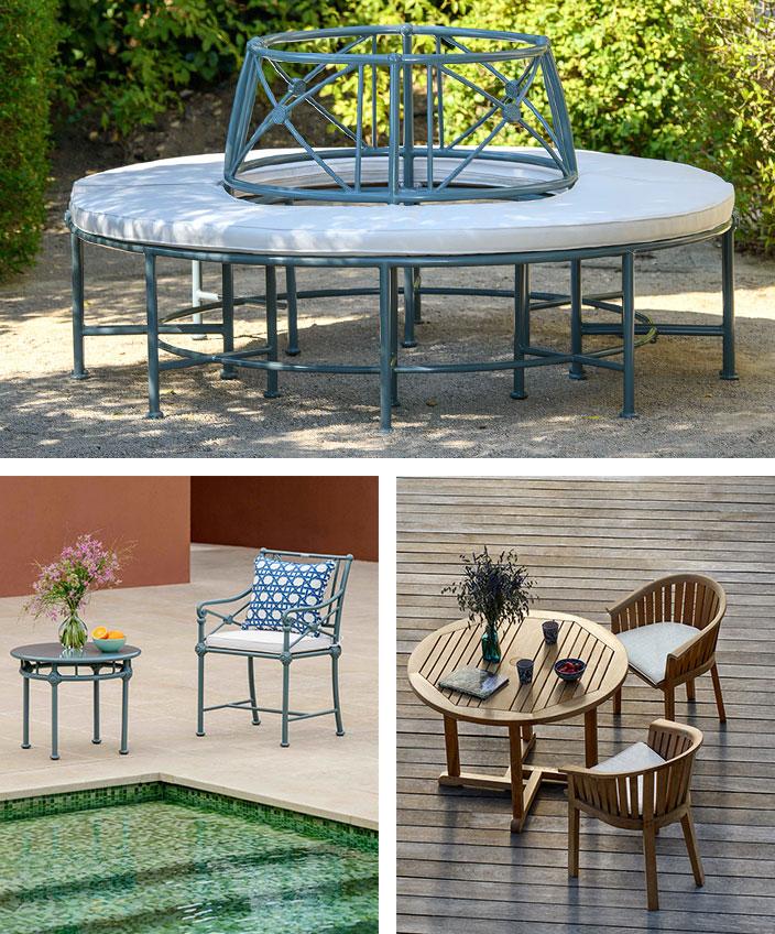 tectona - mobilier outdoor - fauteuil teck - banc circulaire - terrasse en teck - savoir faire francais - signatures singulieres magazine